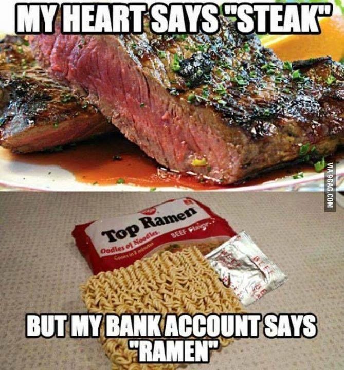 My Heart Says Steak Meme