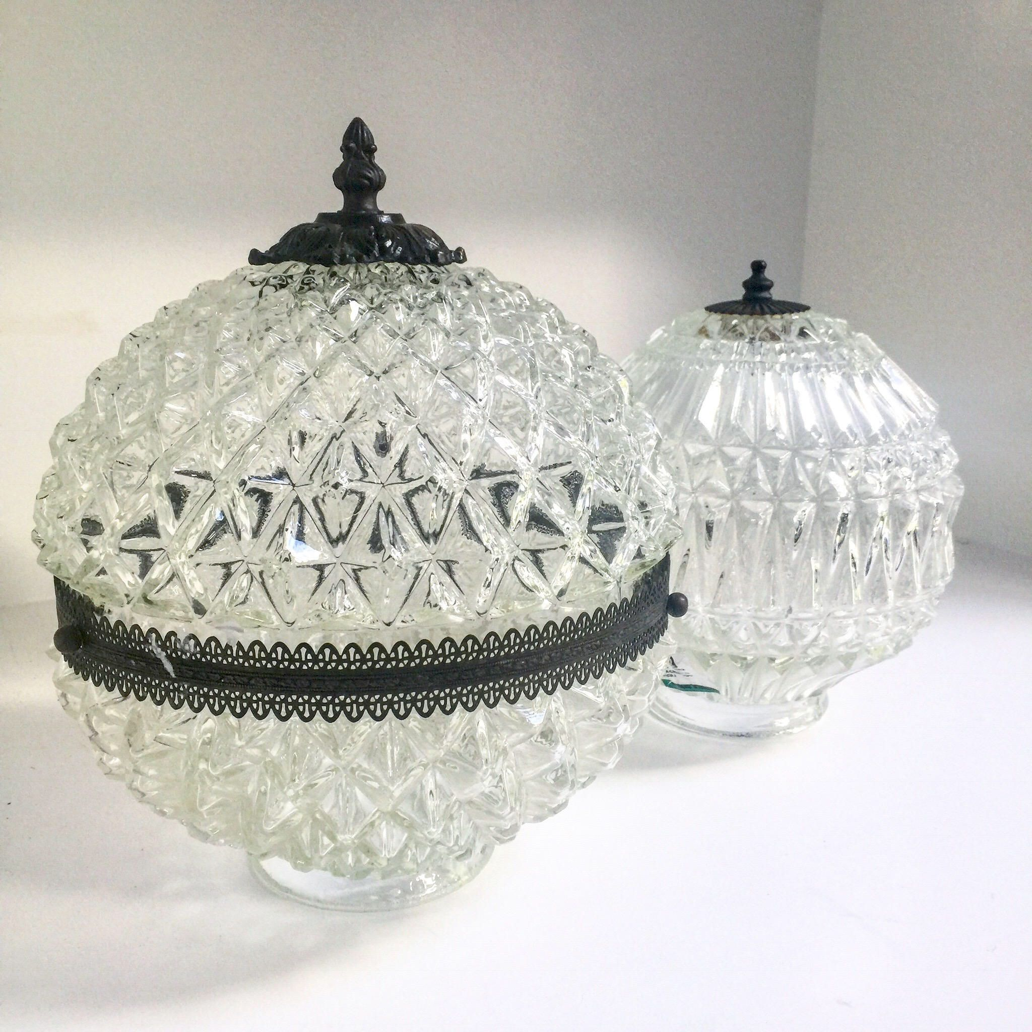Vintage cut glass lamp shades set of two by atomichawks on etsy vintage cut glass lamp shades set of two by atomichawks on etsy https aloadofball Images