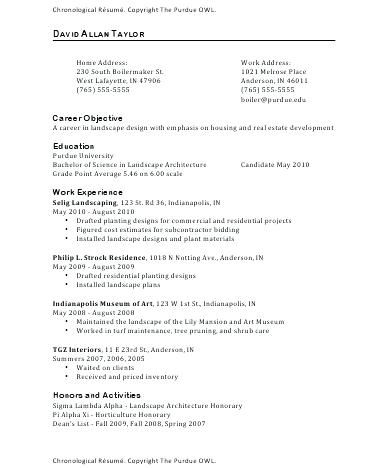 Resume Examples Purdue Resume examples, Template and Owl