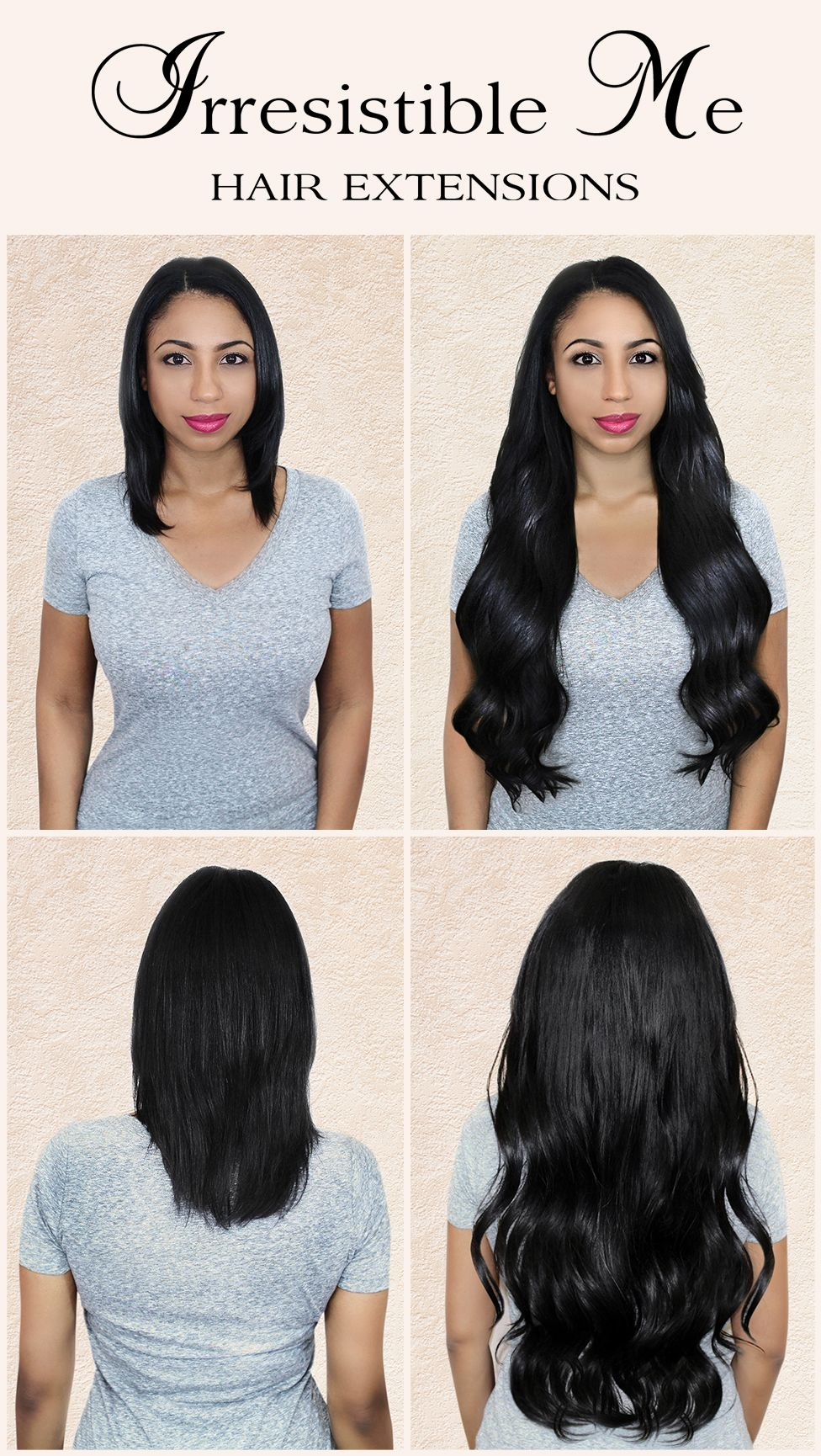 Make A Dramatic Hairstyle Change With Irresistible Me 100 Human Remy Clip In Ha Hair Extensions Online Irresistible Me Hair Extensions Clip In Hair Extensions
