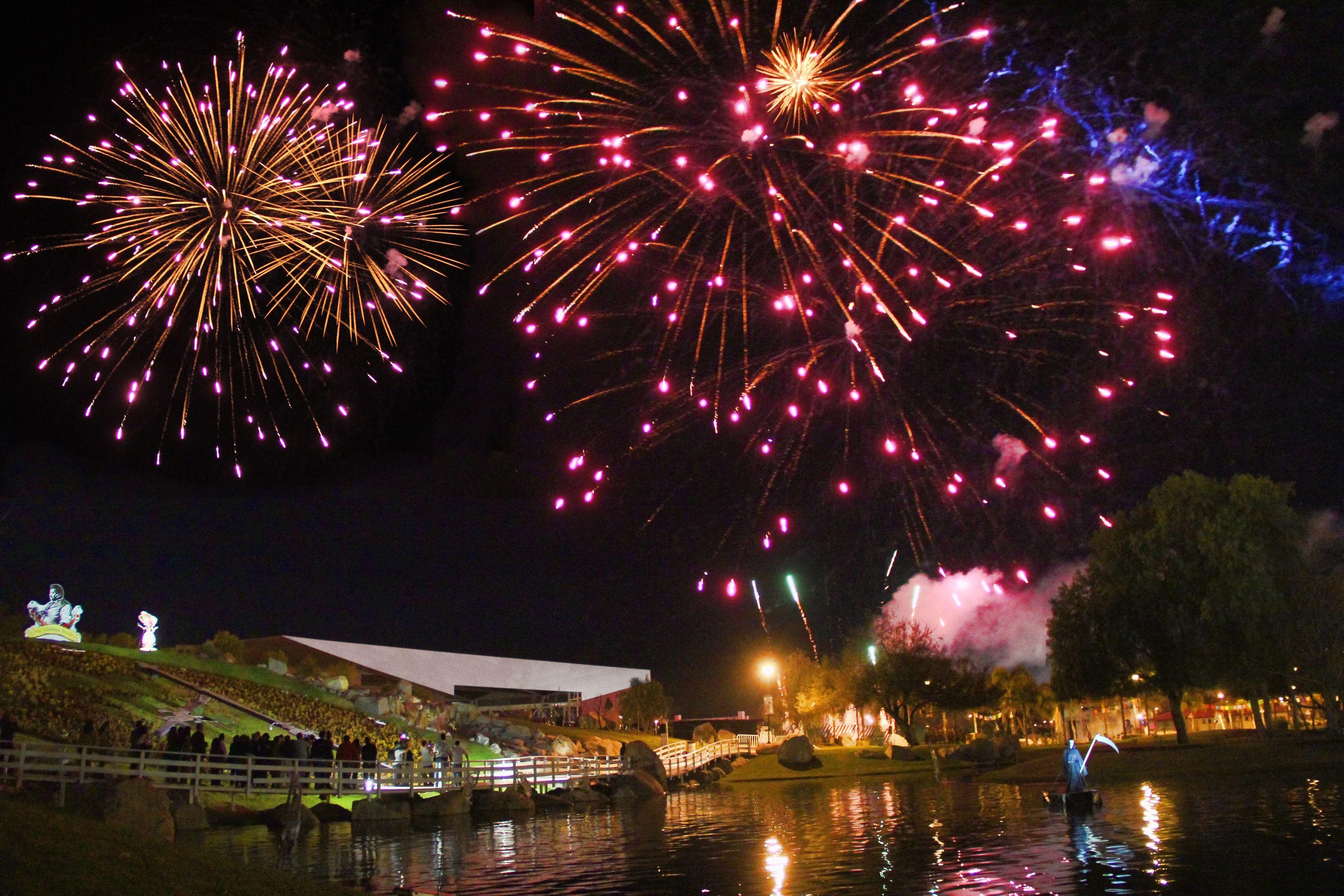 Fuegos artificiales durante el festival / Fireworks during the festival