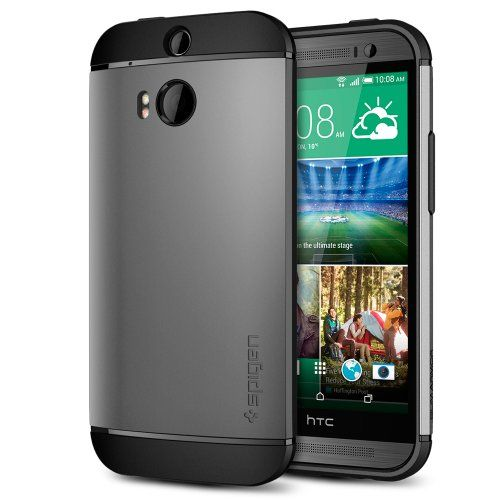 Htc One M8 Case, Spigen® [air Cushion] Htc One M8 Case Protective [slim Armor] [gunmetal] Air Cushioned Dual Layer http://www.smartphonebug.com/accessories/great-22-htc-one-m8-cases-and-covers/
