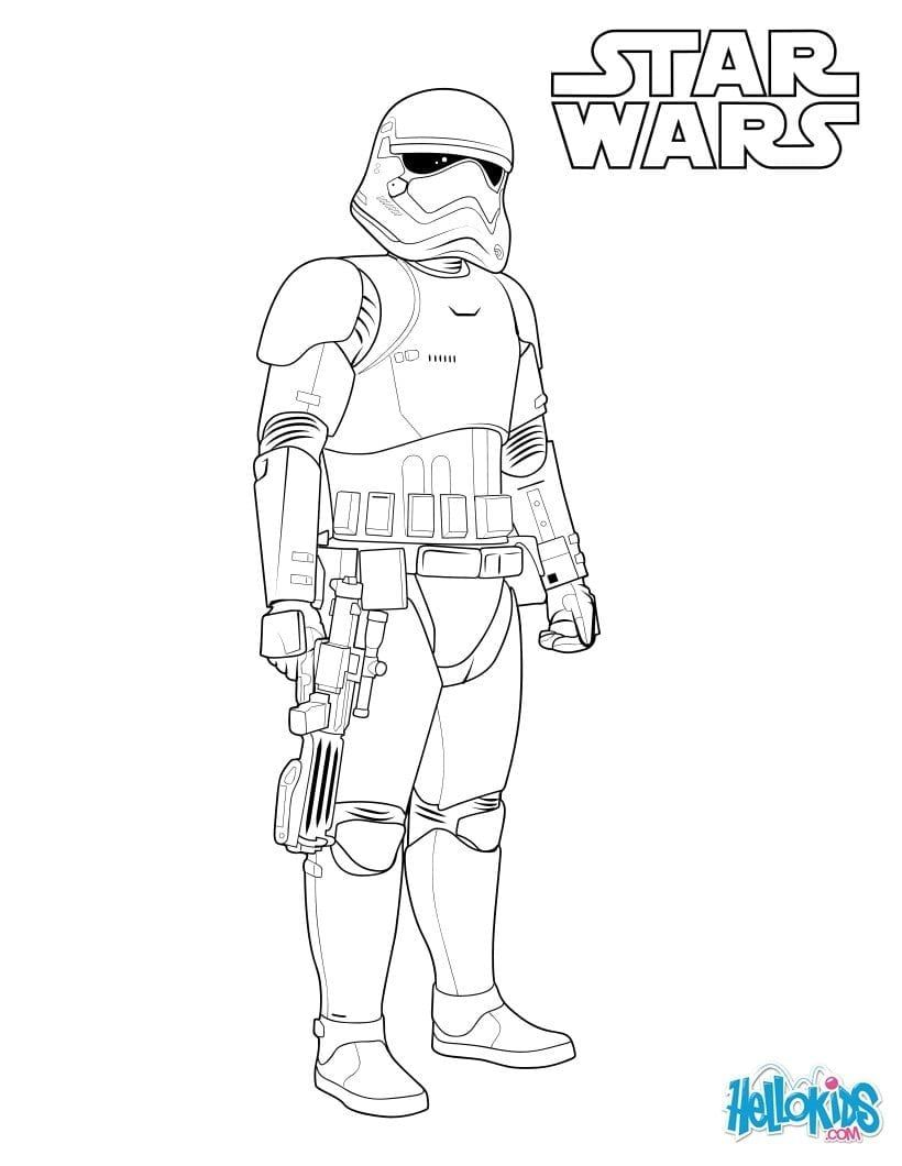 Storm Trooper Coloring Page Coloring Pages