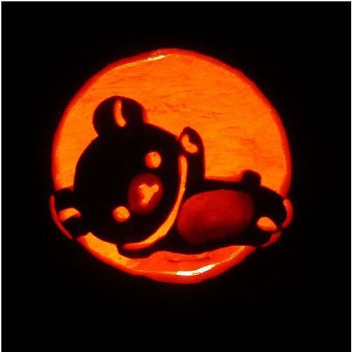 Rilakkuma halloween pumpkin carvings cute · kawaii