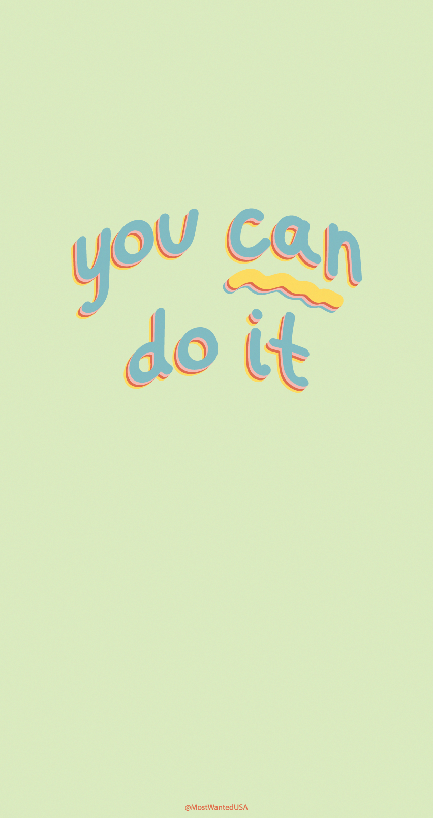 """You Can Do It"" Colorful And Inspirational Iphone"