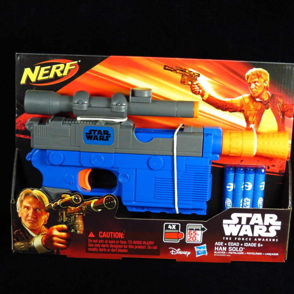 from $49.99 - New Hasbro #StarWars The Force Awakens Han Solo Nerf Blaster  Toy Gun