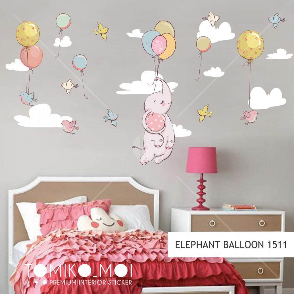33 86 cute wall stickers home decor inspirational sentence wallpaper decal mural wall art 120x80cm elephant balloon
