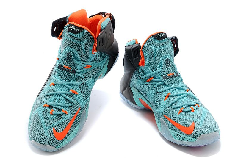 online store edcd8 9124f lebron 12 Lava Silver Ice South Beach Sport Turquoise Teal ...