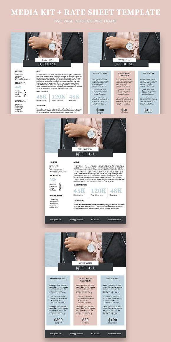 Media Kit + Rate Sheet Presentation Templates Presentation - rate sheet templates