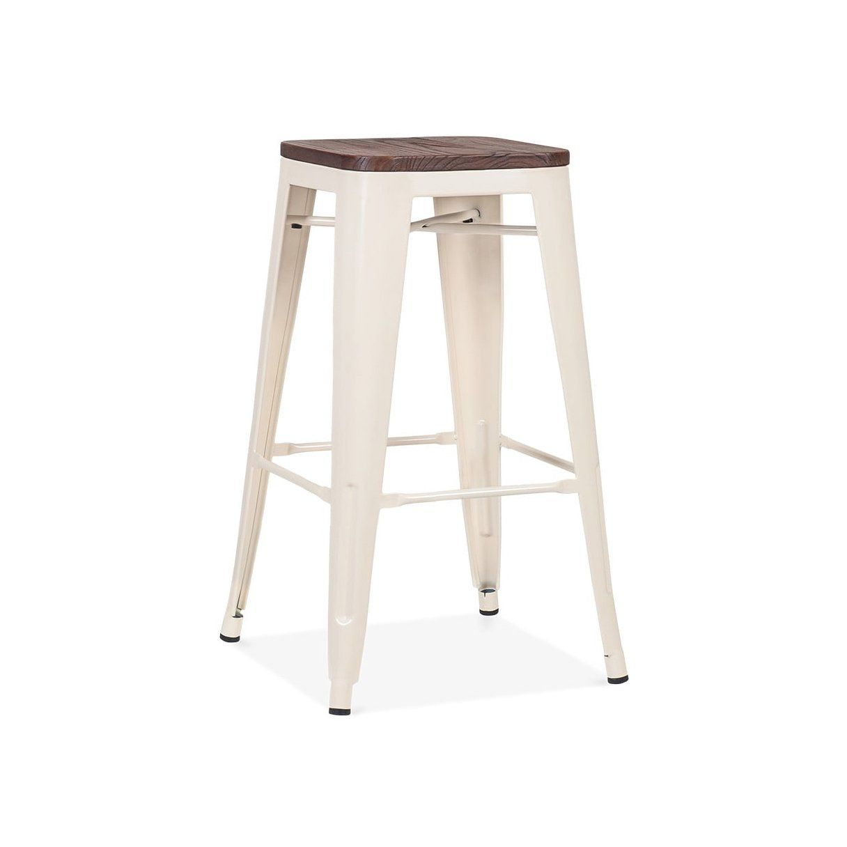26 inch bar stools. Dreux Glossy Cream Elm Wood Steel Stackable Counter Stool 26 Inch (Set Of 4) Bar Stools