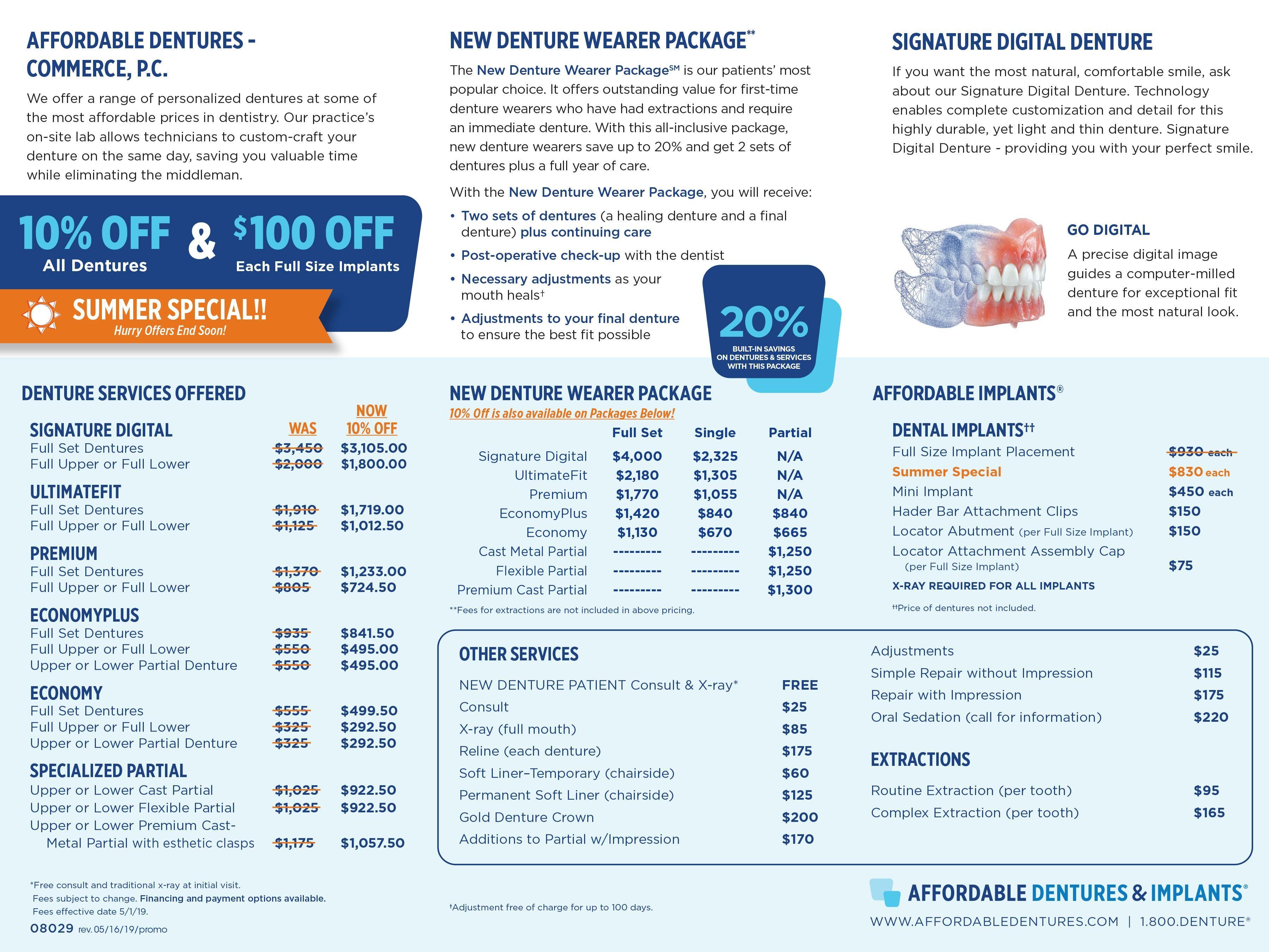 Commerce Ga Denture Care Center Dentist 30529 Affordable