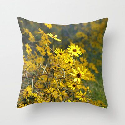 Black Eyed Susans  Pillow Cover by LJordanPhotography on Etsy, $26.50