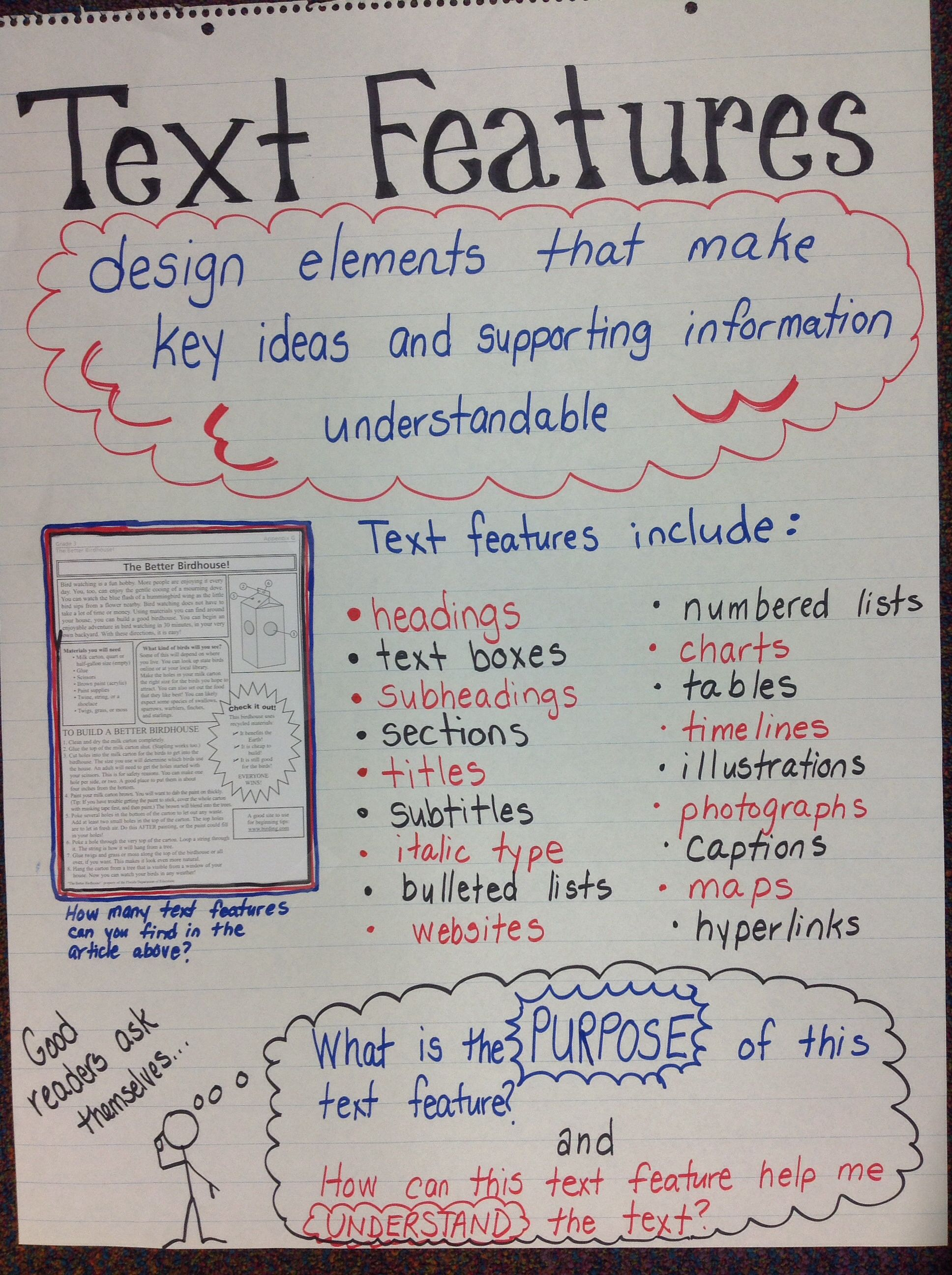 Text and Graphic Features Anchor Chart 4th grade – Graphic Sources Worksheets