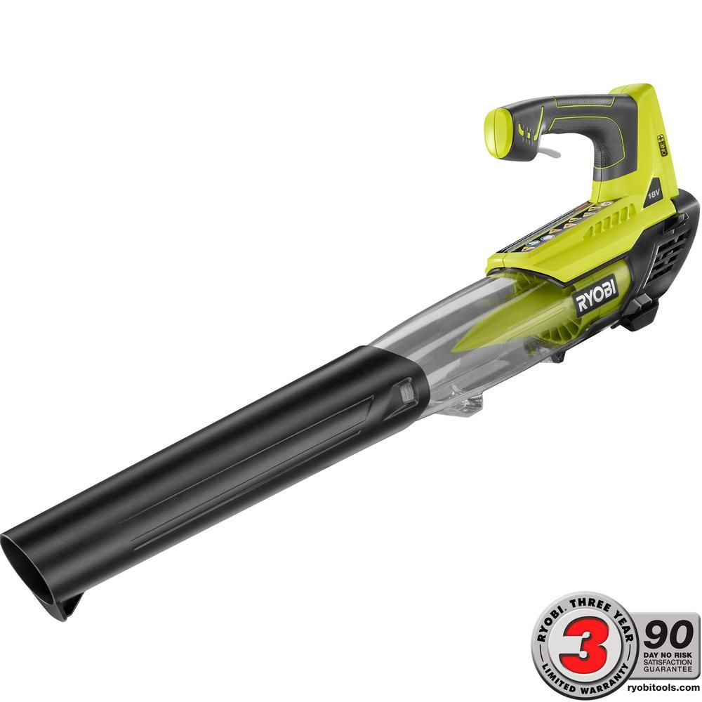 Ryobi Leaf Blower Cordless 18V Lithium-Ion 280 CFM Battery Charger Not Included