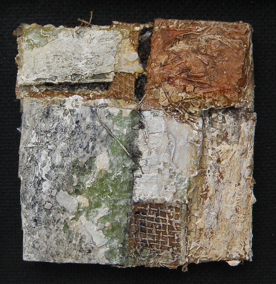 mixed media mini  10 x 10 cm-Gerard Brok