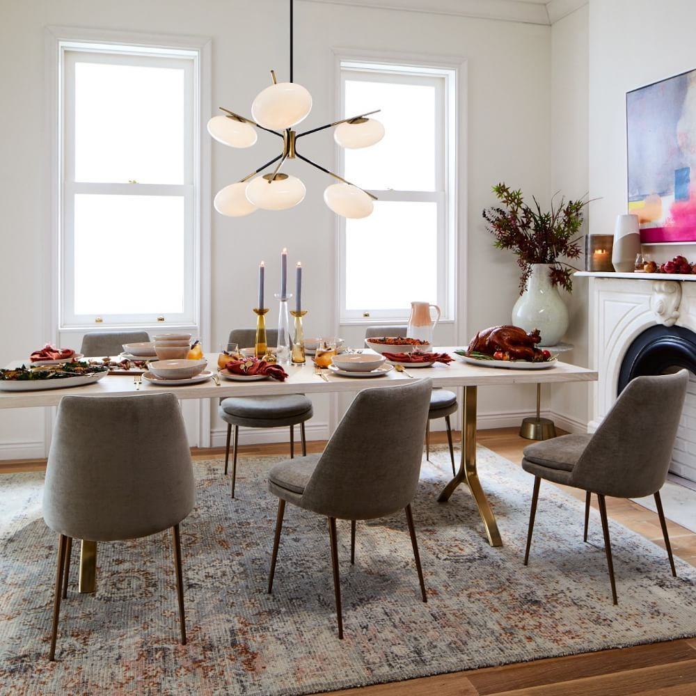 Avery Wishbone Dining Table In 2021 West Elm Dining Table Dining Table Black West Elm Dining Room