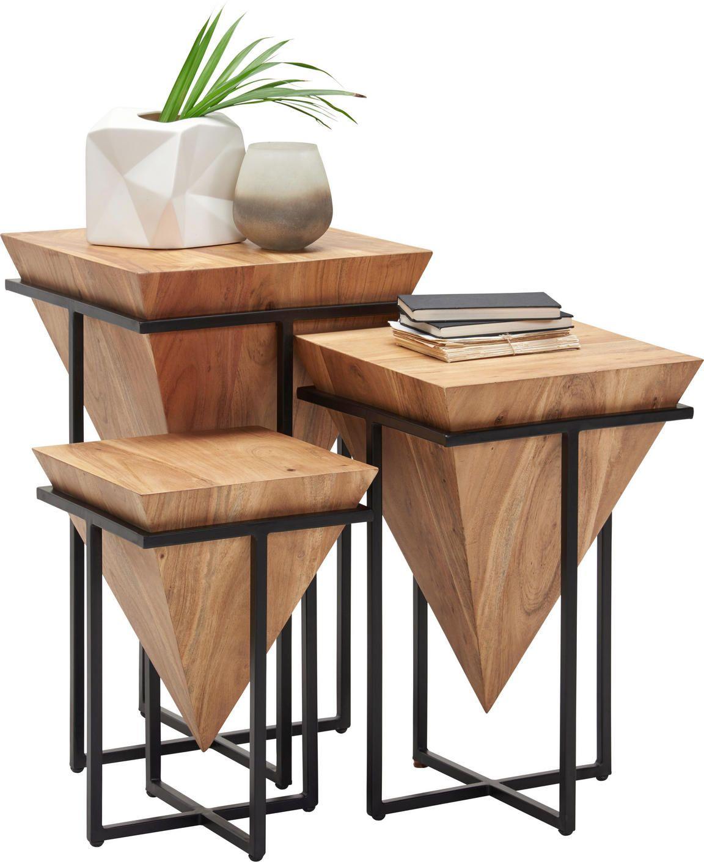 Beistelltisch 45 Cm Akazie Massiv Eisen Shoppen Holztisch Design Beistelltisch Holz Eisenmobel