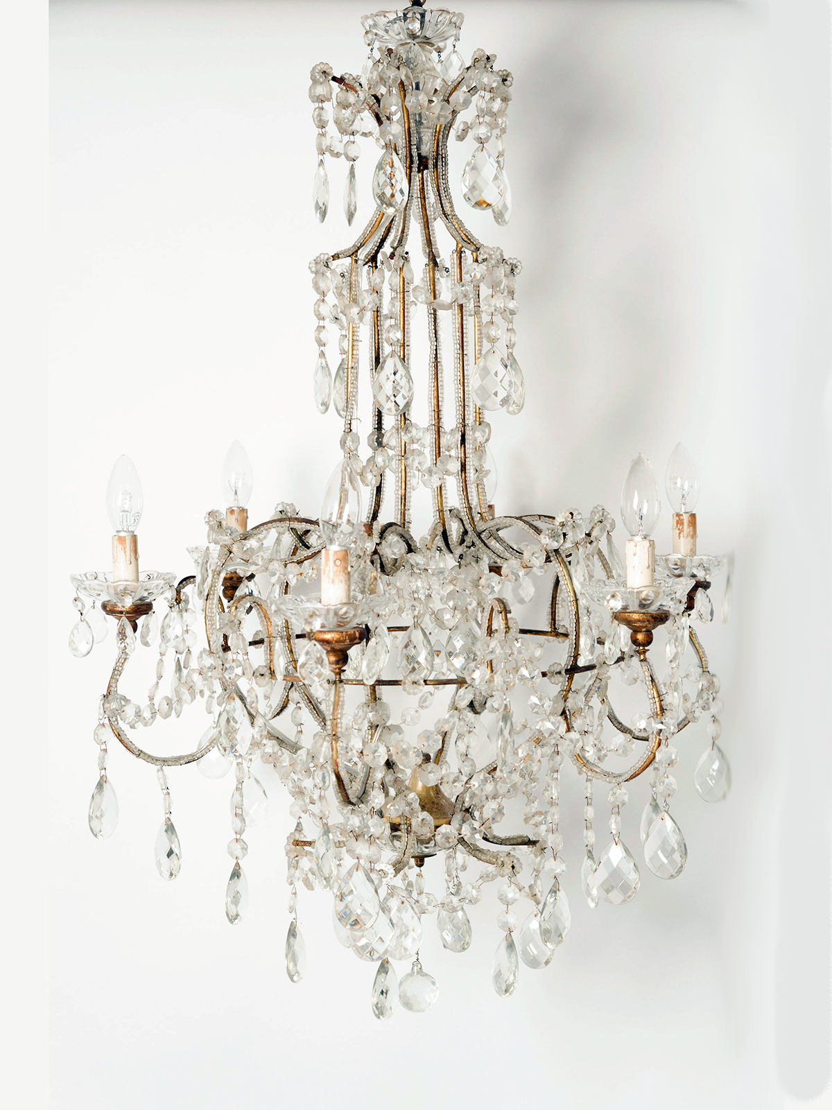 Amazing Antique Italian Crystal Chandelier Crystal Chandelier