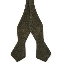 Dark green bow tie made of Bohemian Revolt wool – Popular – Boda fotos