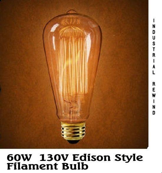 Edison Stile Lampadina 130v 60w Incandescenza Lampadina 3000 Ore Di Vita Grande Sguardo Nella Tua L Antique Light Bulbs Filament Bulb Lighting Light Bulb