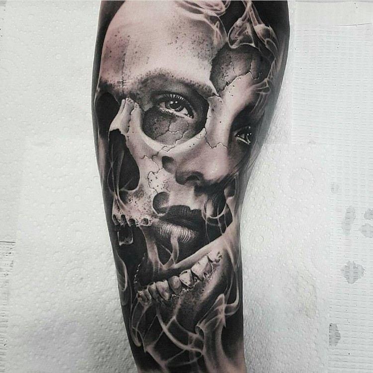 13++ Tatouage homme tete de mort ideas in 2021