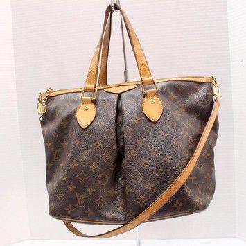 Louis Vuitton Palermo Pm Monogram Gold Crossbody Lv Used Shoulder Bag 861