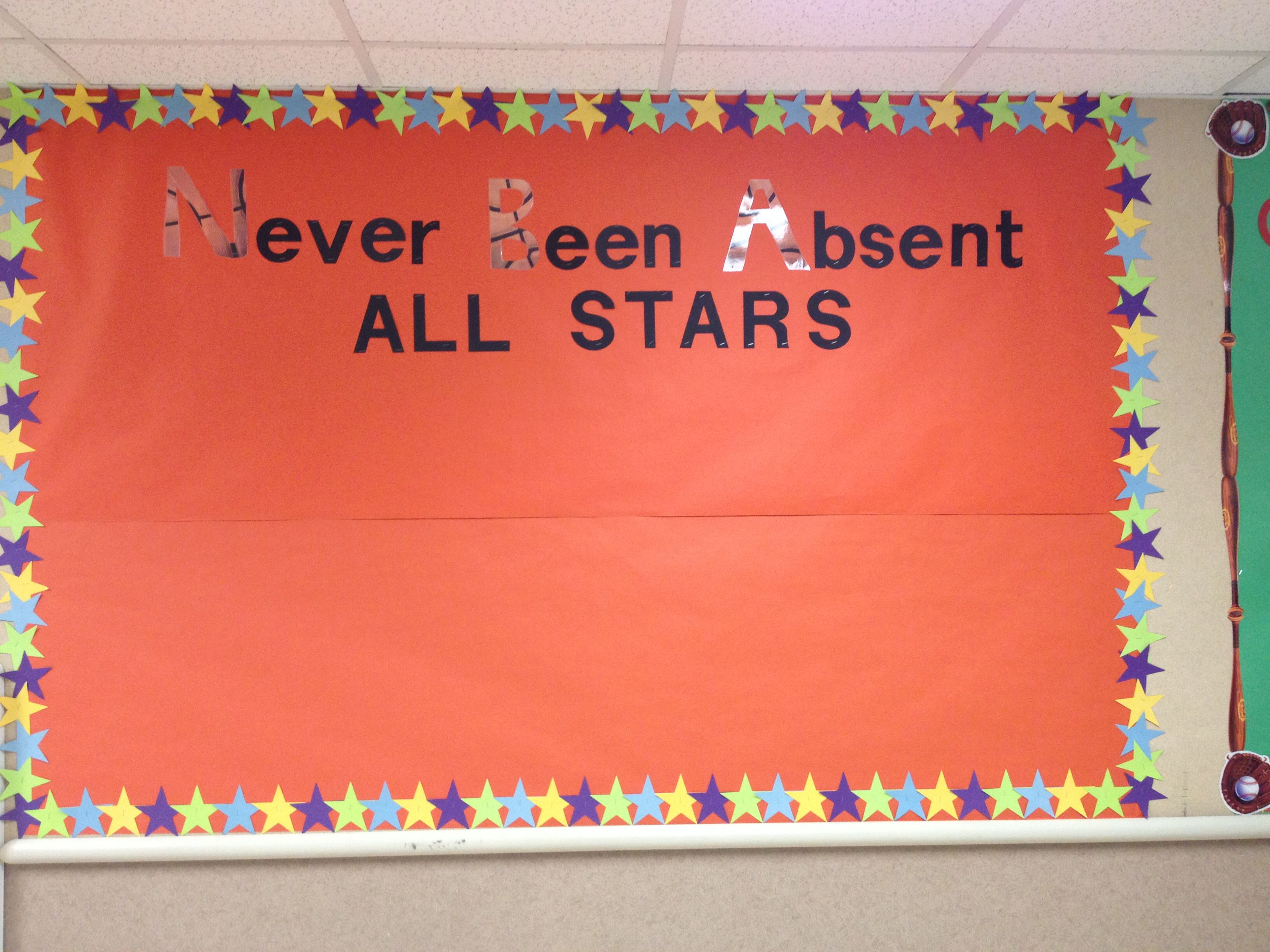 Go green vegetable bulletin board idea myclassroomideas com - Board For Perfect Attendance Made By Staff At Miami Elementary School