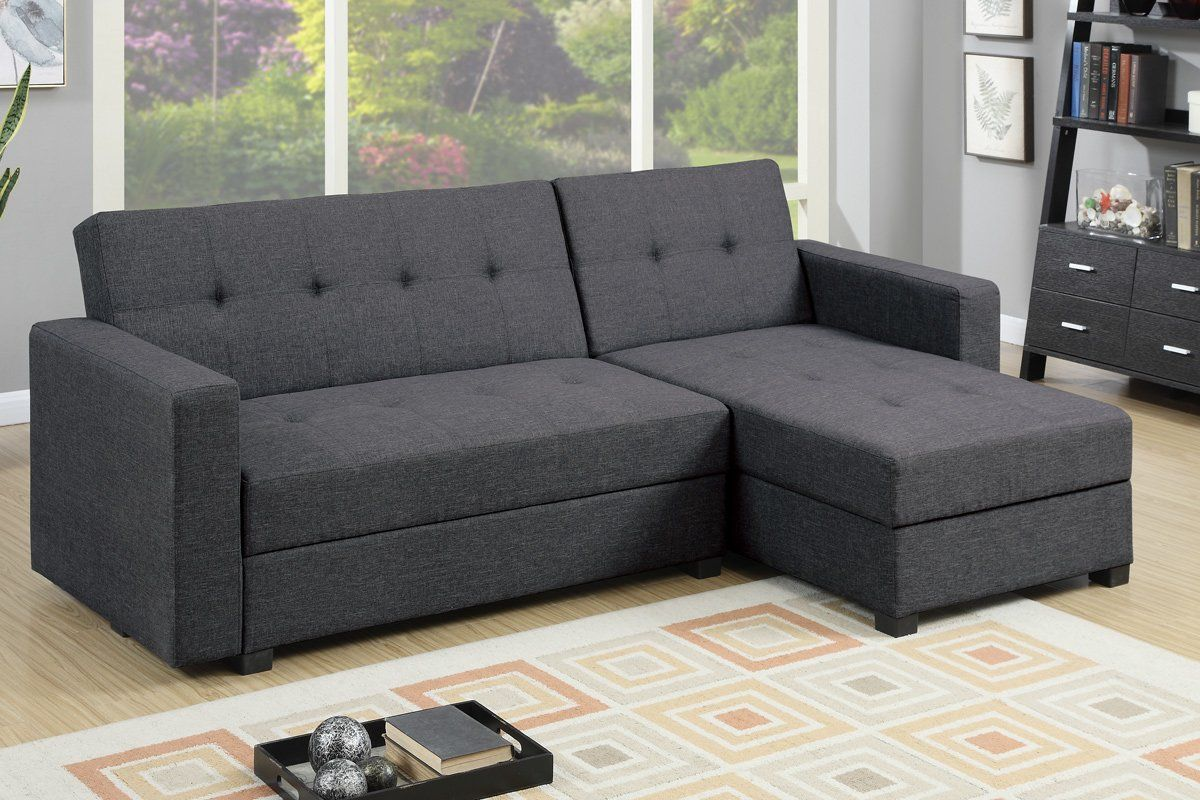 Danos Reversible Sleeper Sectional Hard Too Firm Only Into Double Bed Small Sectional Sofa Grey Sectional Sofa Sectional Sofa