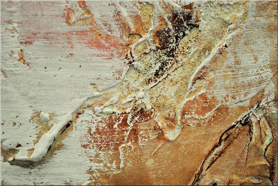 Huge abstract acrylic painting original brown grey von EttisGallery