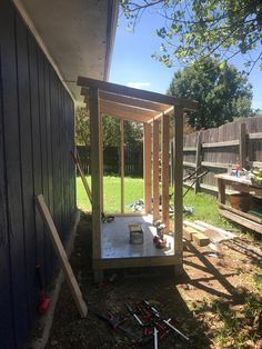 How to Build a Small Wooden Shed is part of Big garden Shed - This small wooden shed is big enough to store a lawn mower and some gardening supplies  We'll show you how to build one just like it in your backyard
