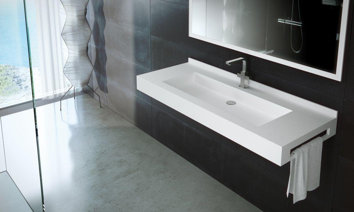 fiora vrij hangende wastafel fontana collectie badkamer wastafel