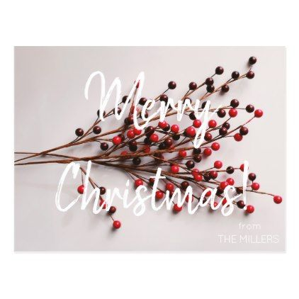 Custom Merry Christmas Family Postcard  Merry Christmas Family