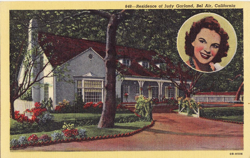 Vintage Hollywood Homes old hollywood homes |  postcards, vintage photographs