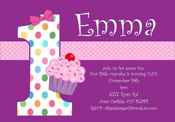 First Birthday Invitation Wording and 1st Birthday Invitations - free template for birthday invitation