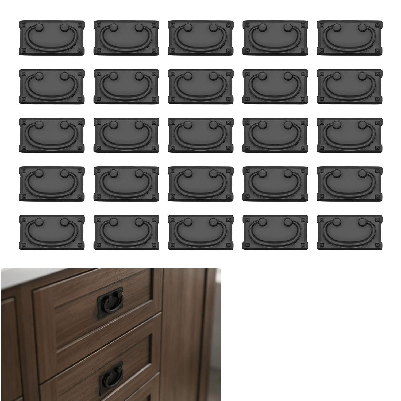 25 Pack Matte Flat Black Cabinet Hardware Kitchen Bath Cupboard Door Drawer Pull Square Mission Style 3 Hole Center Kitchen Cabinet Hardware Black Cabinet Hardware Cabinet Hardware