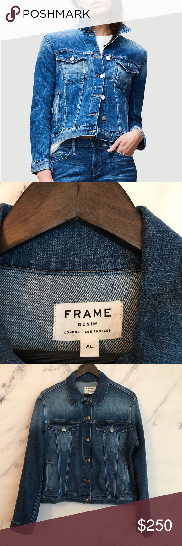 Frame Xl Le Vintage Jacket Waltham Way Soft Stretch Denim And A Gently Worn Fade Give A Well Loved Look To A Classic Si Vintage Jacket Jackets Clothes Design
