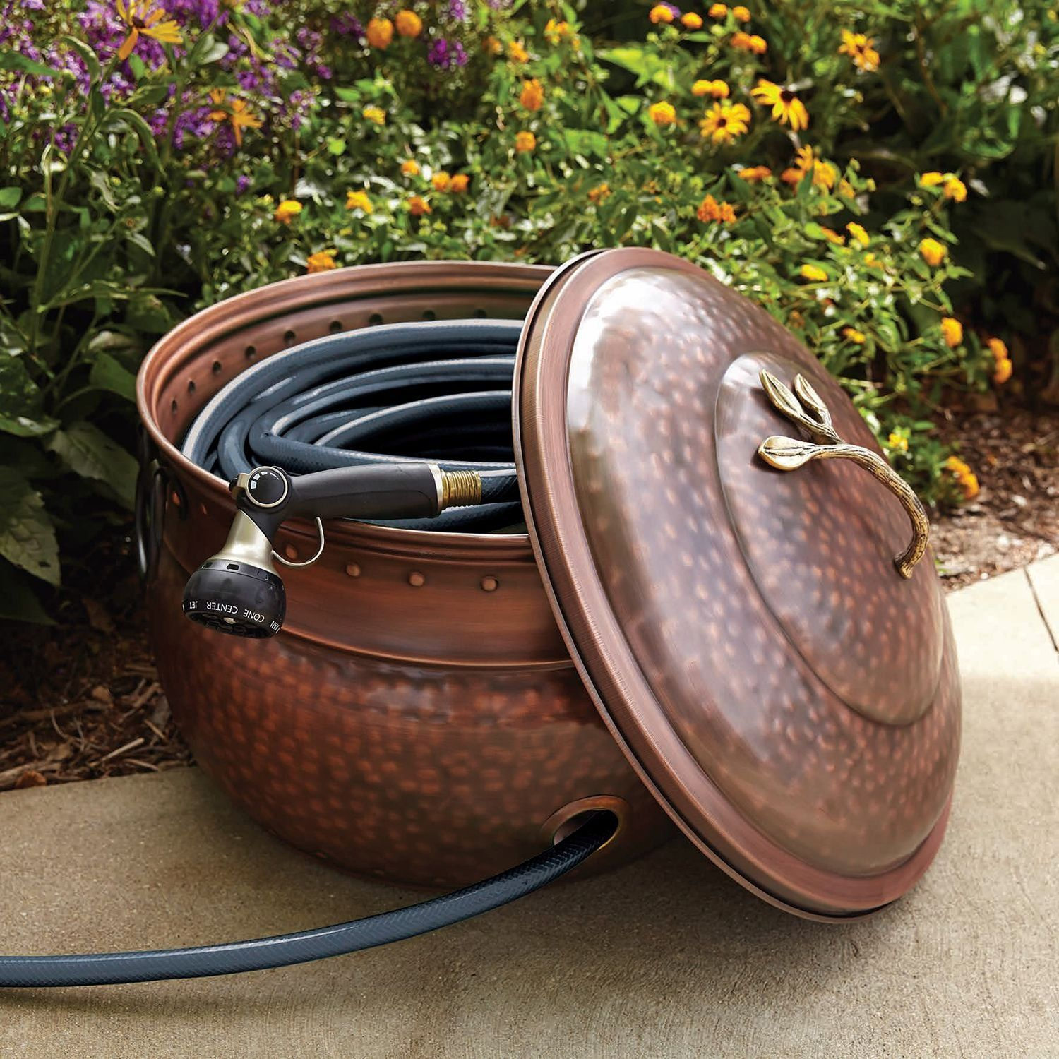 garden hose storage pot. Garden Hose Storage Pot With Lid S