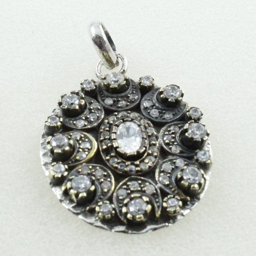 Detalles acerca de cubic zirconia piedra de diseo atractivo 925 cubic zirconia stone attractive design 925 handmade sterling silver pendant ebay aloadofball Choice Image