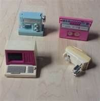 Barbie 80 S Vintage Wind Up Toys Sewing Machine Stereo Computer