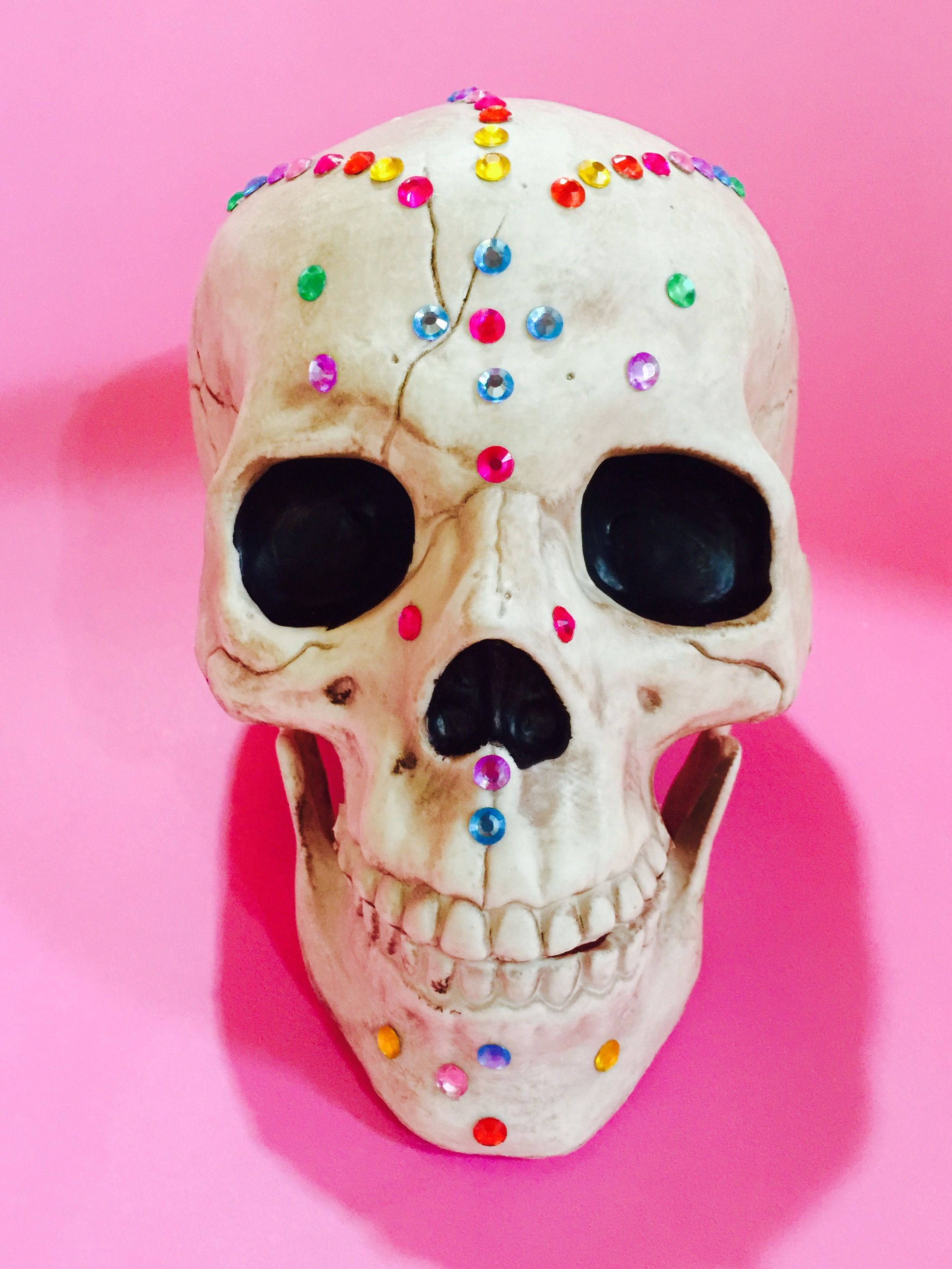 Day Of The Dead Calavera Jewelled Skull Decoration By