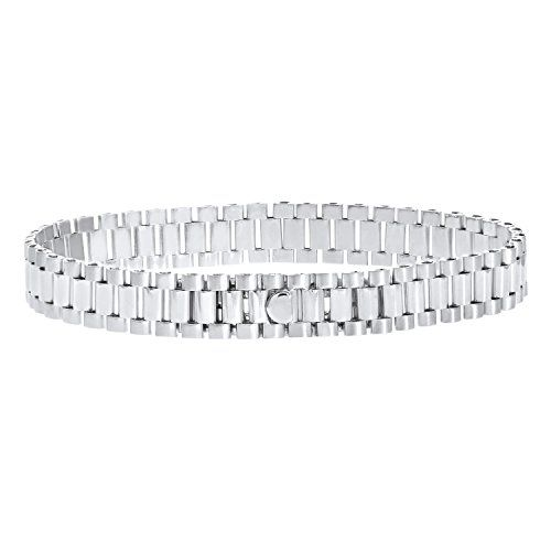Citerna Men S Sterling Silver Triple Link Rolex Style Bracelet Of 21 6cm From Β 530 To 129