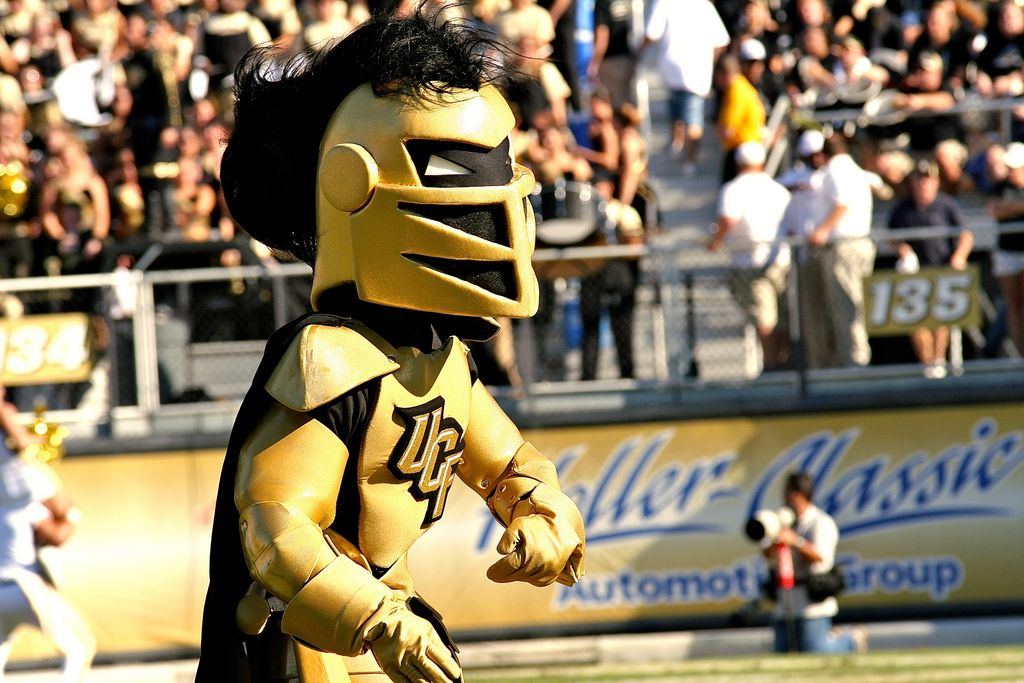 Knightro at a game Knightro University, College, Ucf university