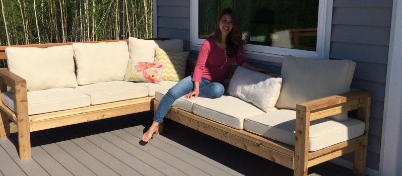 How To Build A Cozy 2X4 Sectional Sofa For Your Outdoor ...