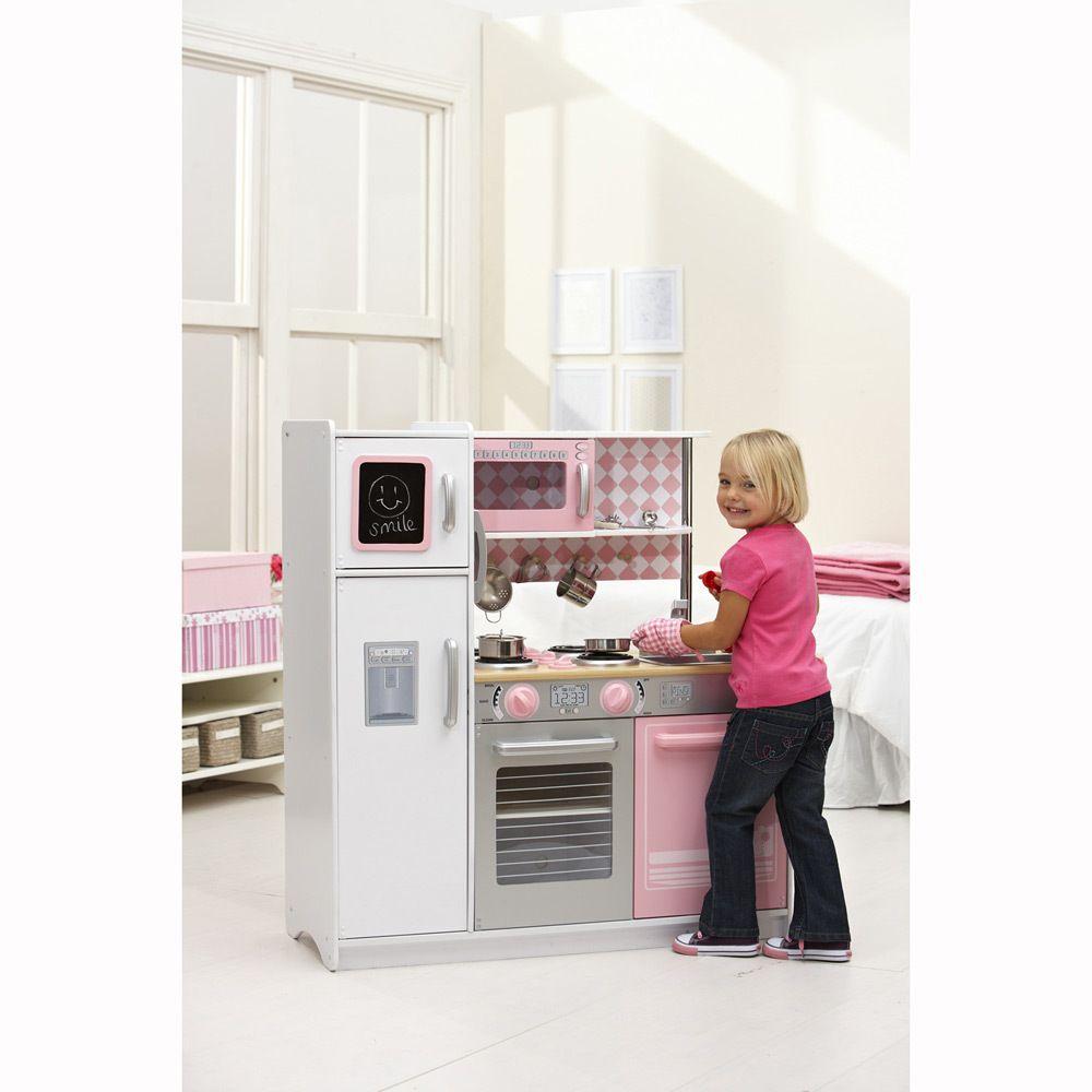 Kidkraft Pink Kitchen: KidKraft Kitchen Petal Pink $148 {Big W}
