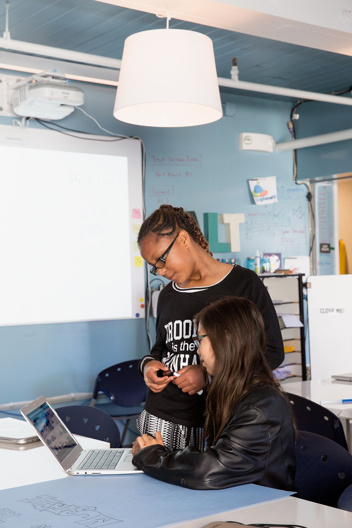 Inside the School Silicon Valley Thinks Will Save Education | Classmates work together on a project for Black History Month at the Fort Mason AltSchool.   | Credit: Christie Hemm Klok/WIRED | From WIRED.com