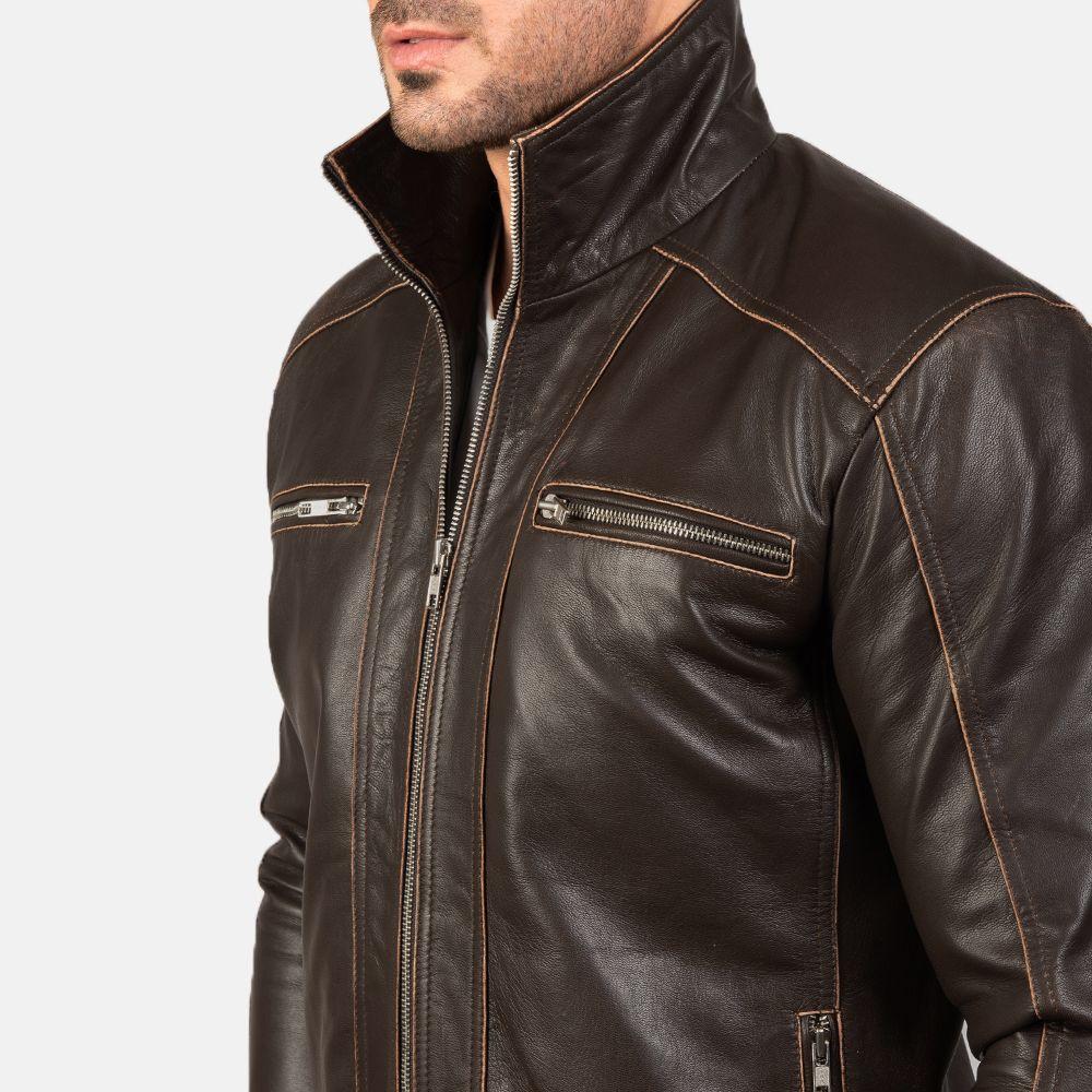 Hudson Brown Leather Biker Jacket Mens Leather Jacket Biker Biker Jacket Leather Biker Jacket [ 1000 x 1000 Pixel ]