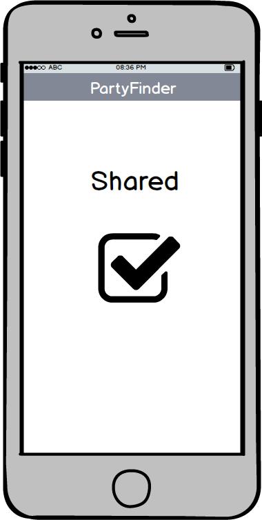 Partyfinder APP Wireframe Shared in social | UX Deisgn | Pinterest ...