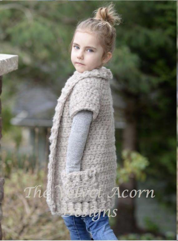 Crochet PATTERN-The Tyla Sweater (2/3, 4/6, 7/9, 10/12, 14/16, Adult ...