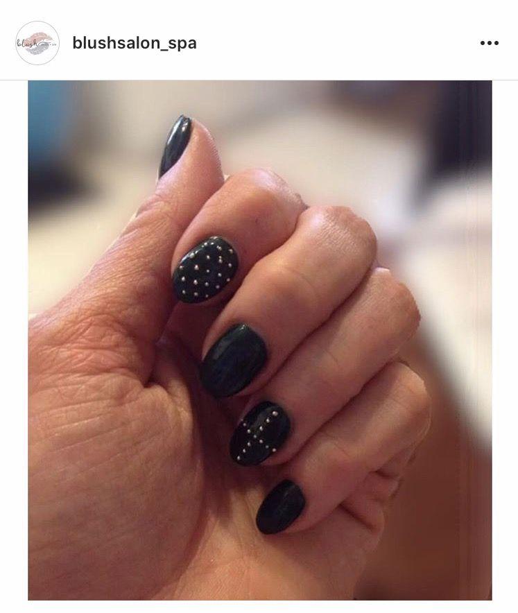 Matte black nail design | Blush Nails | Pinterest | Blush nails ...