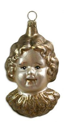 Blown glass angel ornament from Germany
